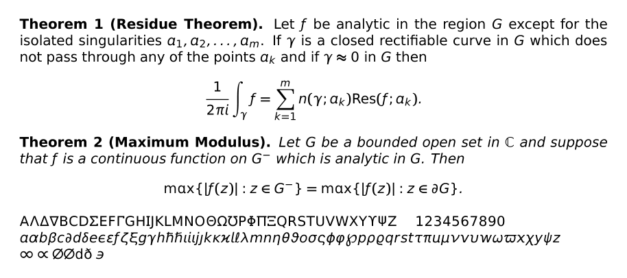 Math Fonts In Latex 10